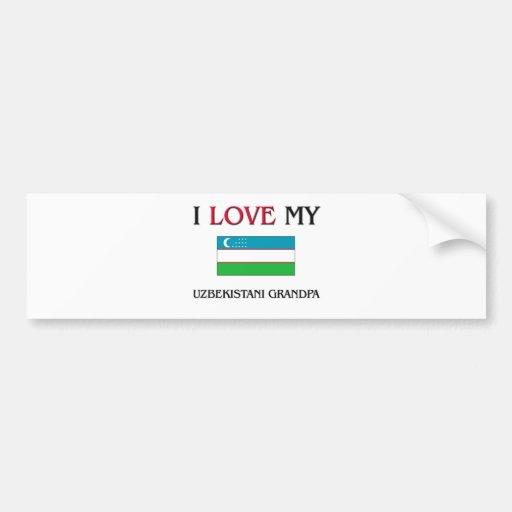 I Love My Uzbekistani Grandpa Bumper Sticker