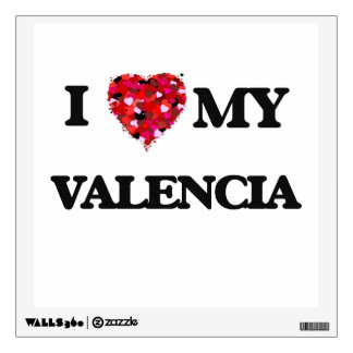 I Love MY Valencia Wall Decals