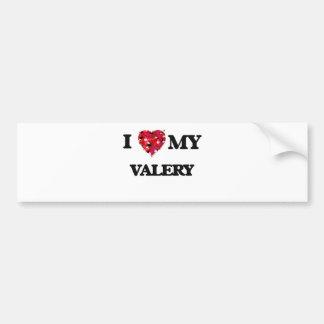 I love my Valery Car Bumper Sticker