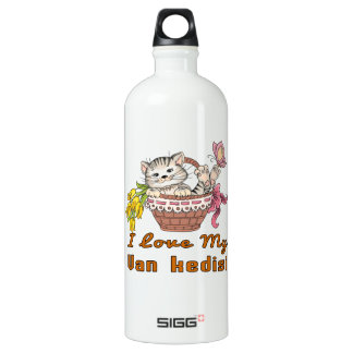 I Love My Van kedisi Aluminum Water Bottle