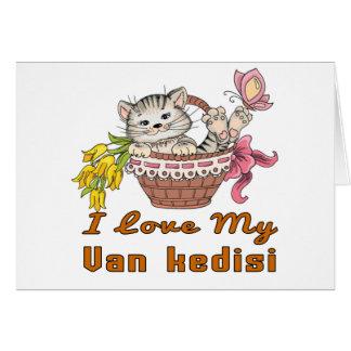 I Love My Van kedisi Card