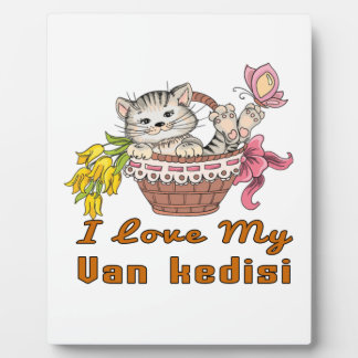 I Love My Van kedisi Plaque