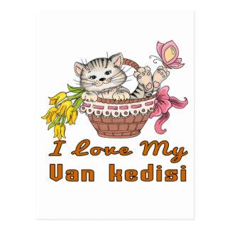 I Love My Van kedisi Postcard