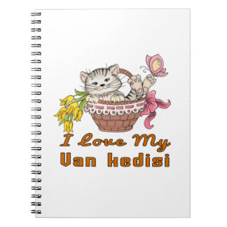 I Love My Van kedisi Spiral Notebook
