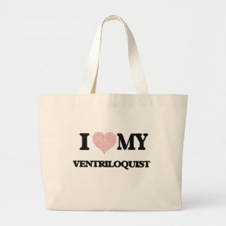 I love my Ventriloquist (Heart Made from Words) Jumbo Tote Bag