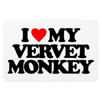 I LOVE MY VERVET MONKEY MAGNET