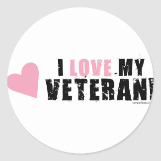 I love my Veteran! Classic Round Sticker