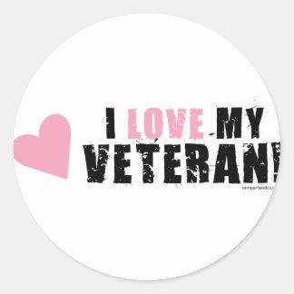 I love my Veteran! Round Sticker