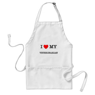 I Love My VETERINARIAN Adult Apron
