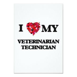 I love my Veterinarian Technician 3.5x5 Paper Invitation Card
