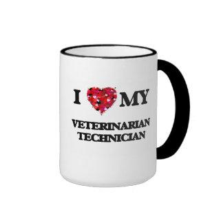 I love my Veterinarian Technician Ringer Coffee Mug