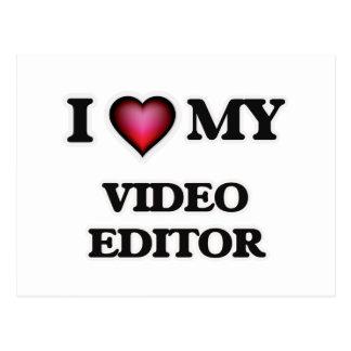 I love my Video Editor Postcard
