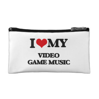I Love My VIDEO GAME MUSIC Cosmetic Bags