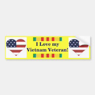 I Love My Vietnam Veteran Bumper Sticker