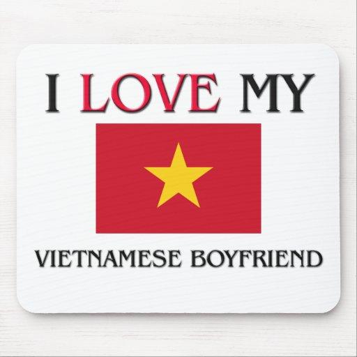 I Love My Vietnamese Boyfriend Mouse Mat