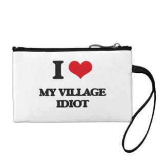I Love My Village Idiot Coin Purse