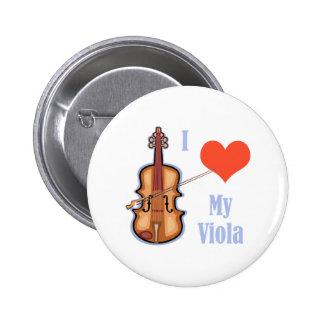 I Love My Viola Button