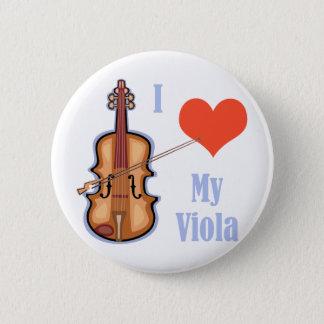 I Love My Viola Pinback Button