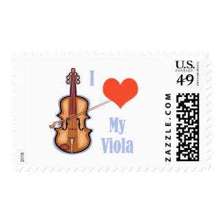 I Love My Viola Postage Stamp
