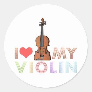 I Love My Violin Classic Round Sticker