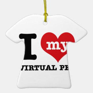 I Love my virtual pet Ornament