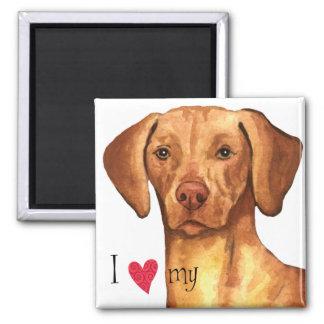I Love my Vizsla 2 Inch Square Magnet