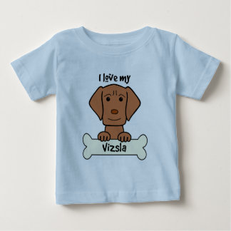 I Love My Vizsla Baby T-Shirt