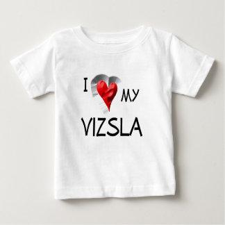 I Love My Vizsla Baby T-Shirt