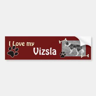 I love my Vizsla Bumper Sticker Car Bumper Sticker