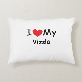 I love my Vizsla dog Accent Pillow