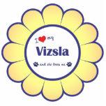 I Love My Vizsla (Female Dog) Acrylic Cut Outs