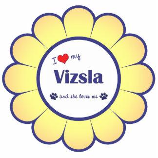 I Love My Vizsla (Female Dog) Statuette