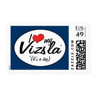 I Love My Vizsla (It's a Dog) Postage Stamp