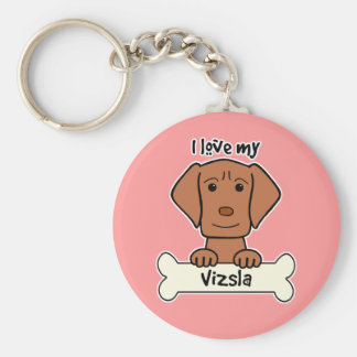 I Love My Vizsla Keychain