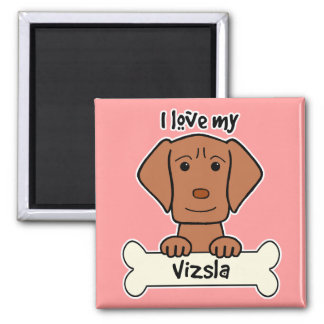 I Love My Vizsla Fridge Magnets