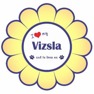 I Love My Vizsla (Male Dog) Cutout
