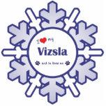 I Love My Vizsla (Male Dog) Photo Cut Out