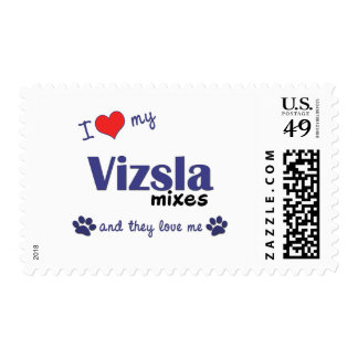 I Love My Vizsla Mixes (Multiple Dogs) Stamp