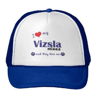 I Love My Vizsla Mixes (Multiple Dogs) Trucker Hat