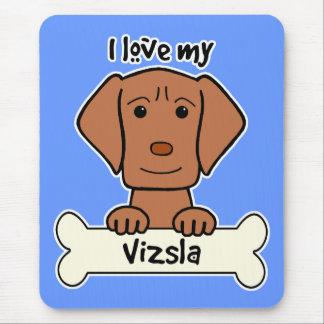 I Love My Vizsla Mouse Pad