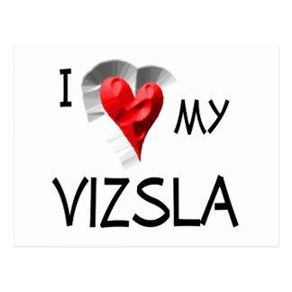 I Love My Vizsla Postcard