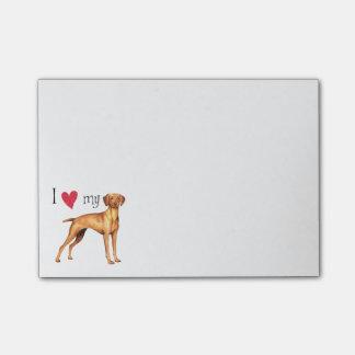 I Love my Vizsla Post-it® Notes