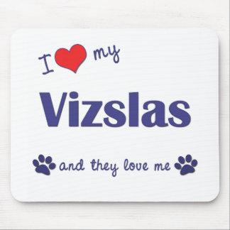 I Love My Vizslas (Multiple Dogs) Mouse Pad
