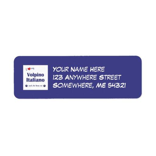 I Love My Volpino Italiano (Female Dog) Label