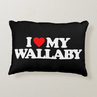 I LOVE MY WALLABY ACCENT PILLOW