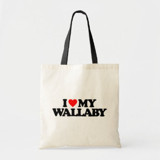 I LOVE MY WALLABY CANVAS BAGS