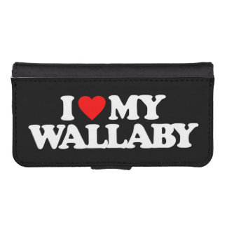 I LOVE MY WALLABY PHONE WALLET CASES