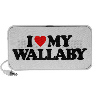 I LOVE MY WALLABY iPhone SPEAKER