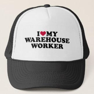 I love my warehouse worker trucker hat
