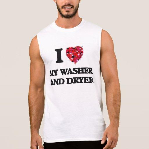 I love My Washer And Dryer Sleeveless Shirts Tank Tops, Tanktops Shirts
